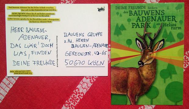 Schickt Herrn Bauwens-Adenauer eine Karte!