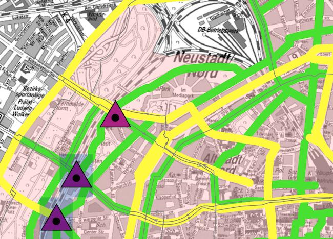 Auszug aus dem Radverkehrskonzept Innenstadt